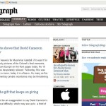 screenshot of telegraph blogs website