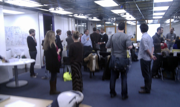 people at CiviCRM meetup at techhub