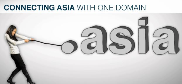 promoting .asia top level domain name
