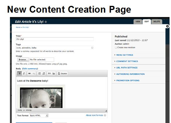 Content Creation in D8